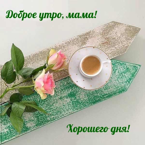 Доброе утро, мама! Хорошего дня!